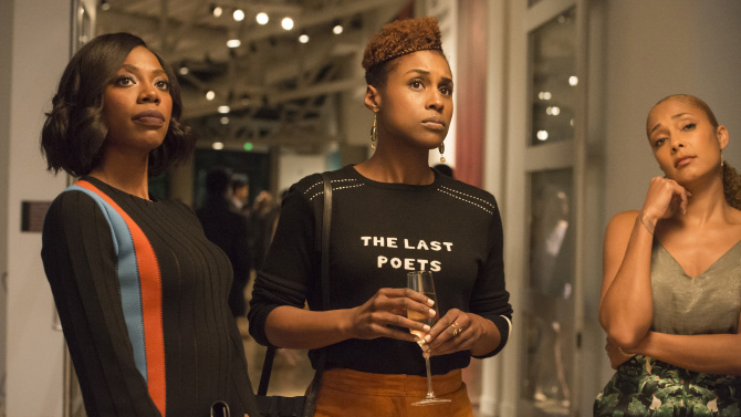 Issa Rae slays. (image via HBO)