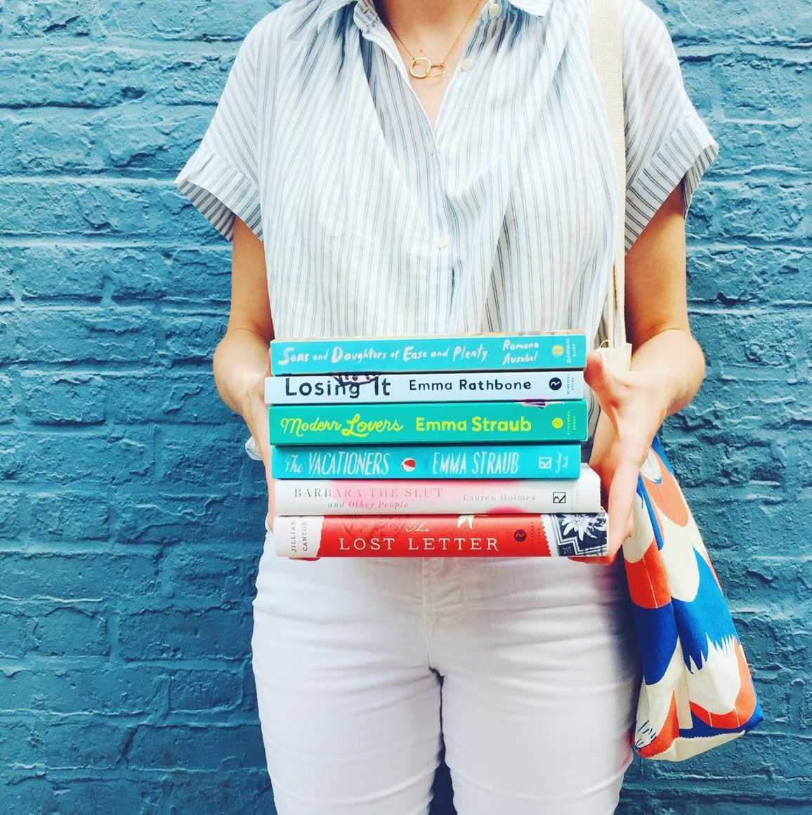 I got that sweet tote, too. My literary tote collection is growing. (image via  riverheadbooks Insta )