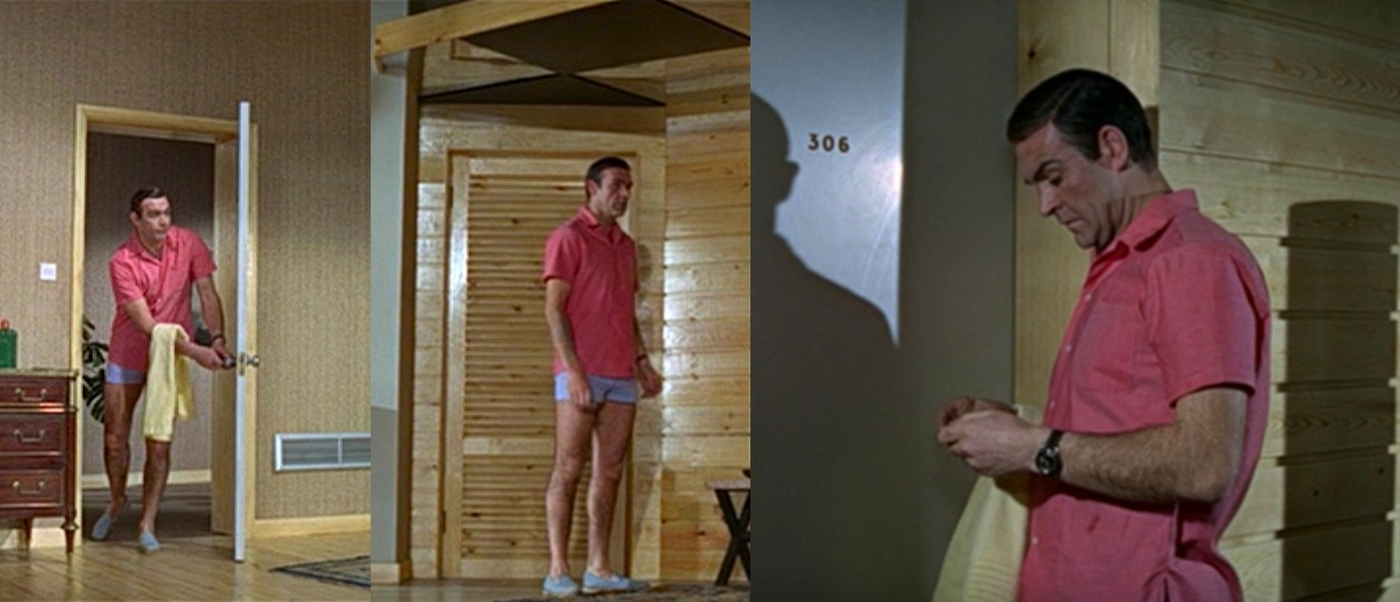 """Happy to report my summer look is very James Bond in """"Thunderball."""" Shorts, shoes and all. Now I want to watch this. (image via  bamfstyle )"""