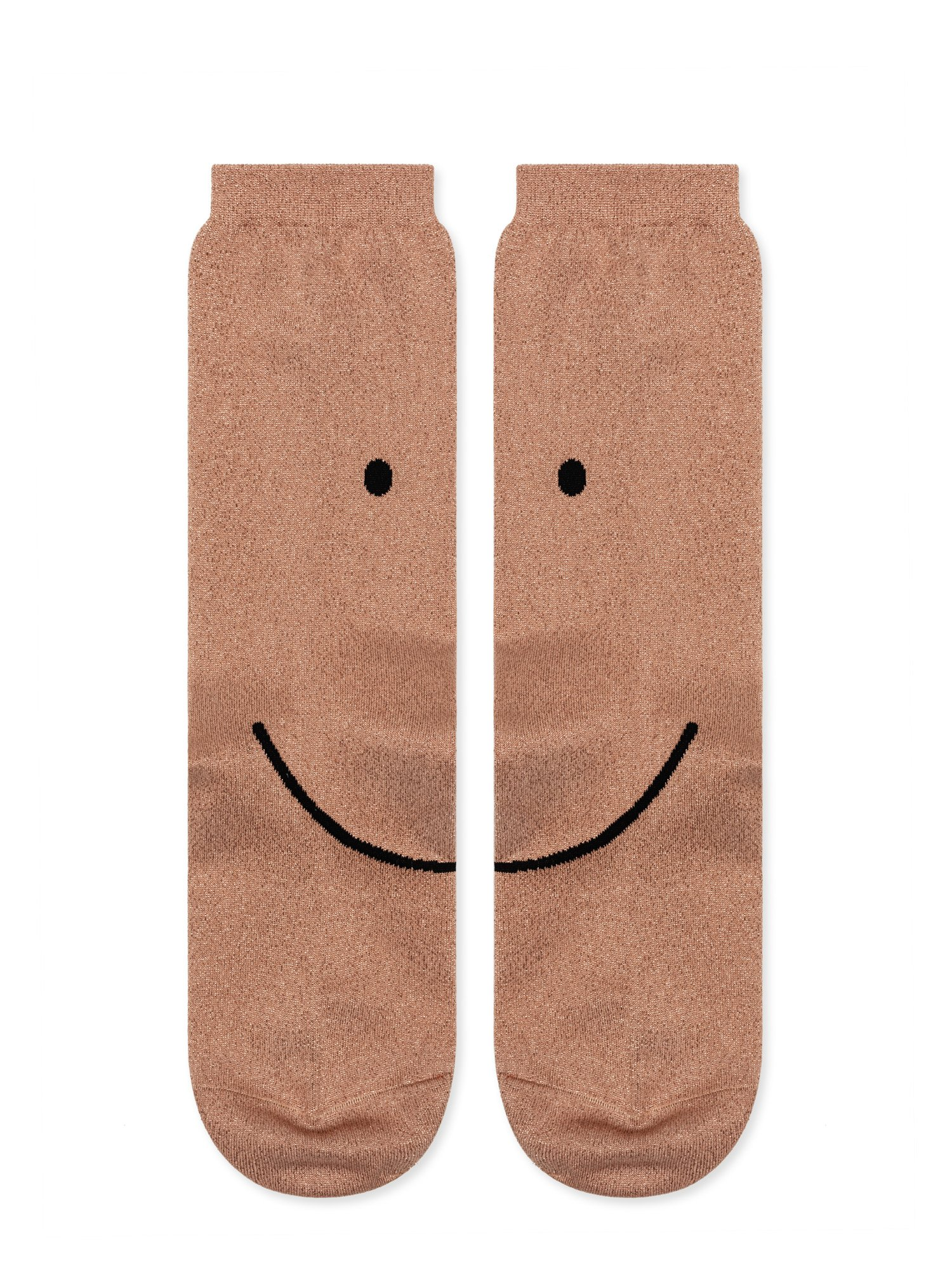 Smiley metallic crew socks by  Hansel from Basel .