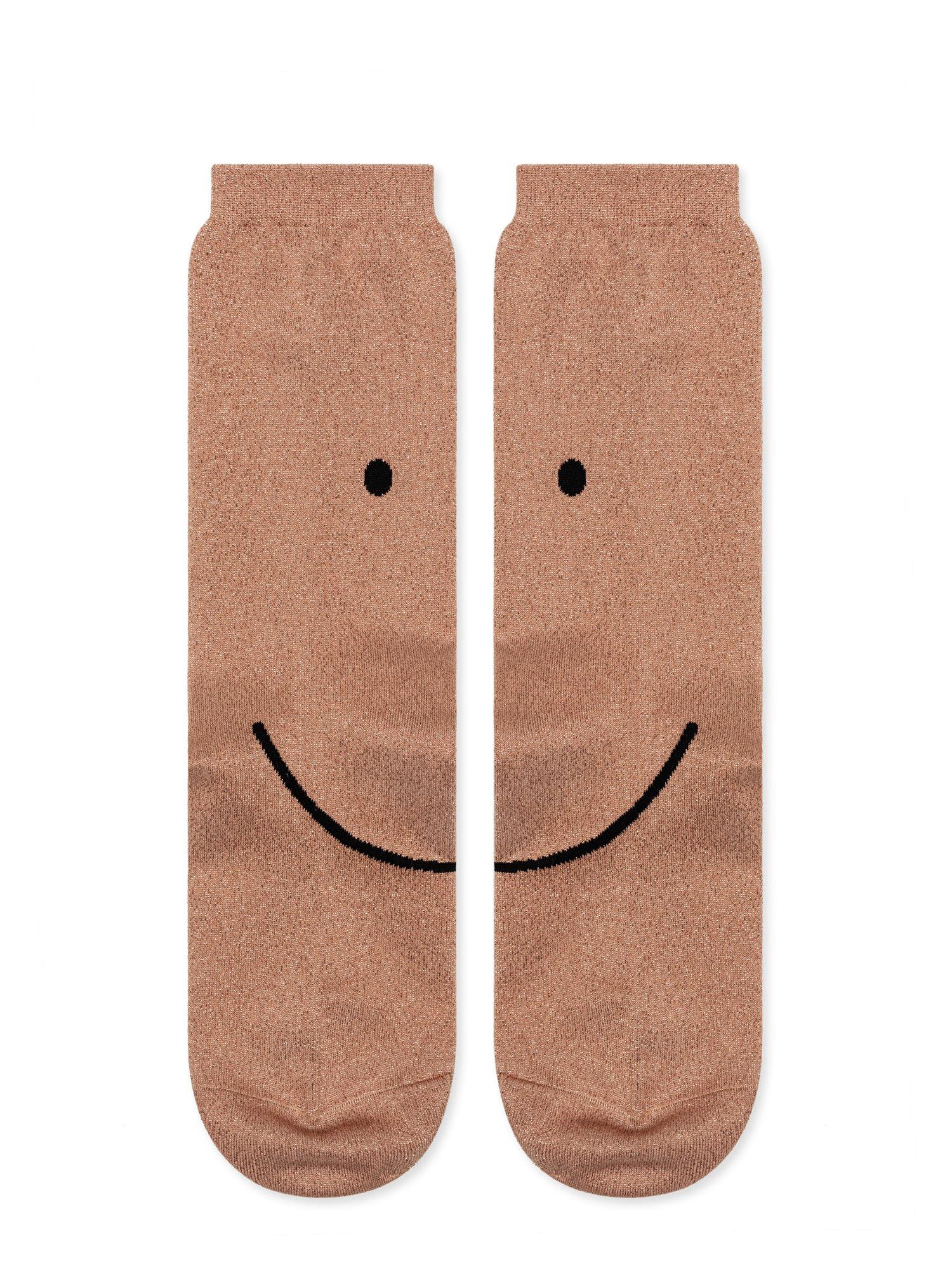 Smiley metallic crew socks by  Hansel from Basel .