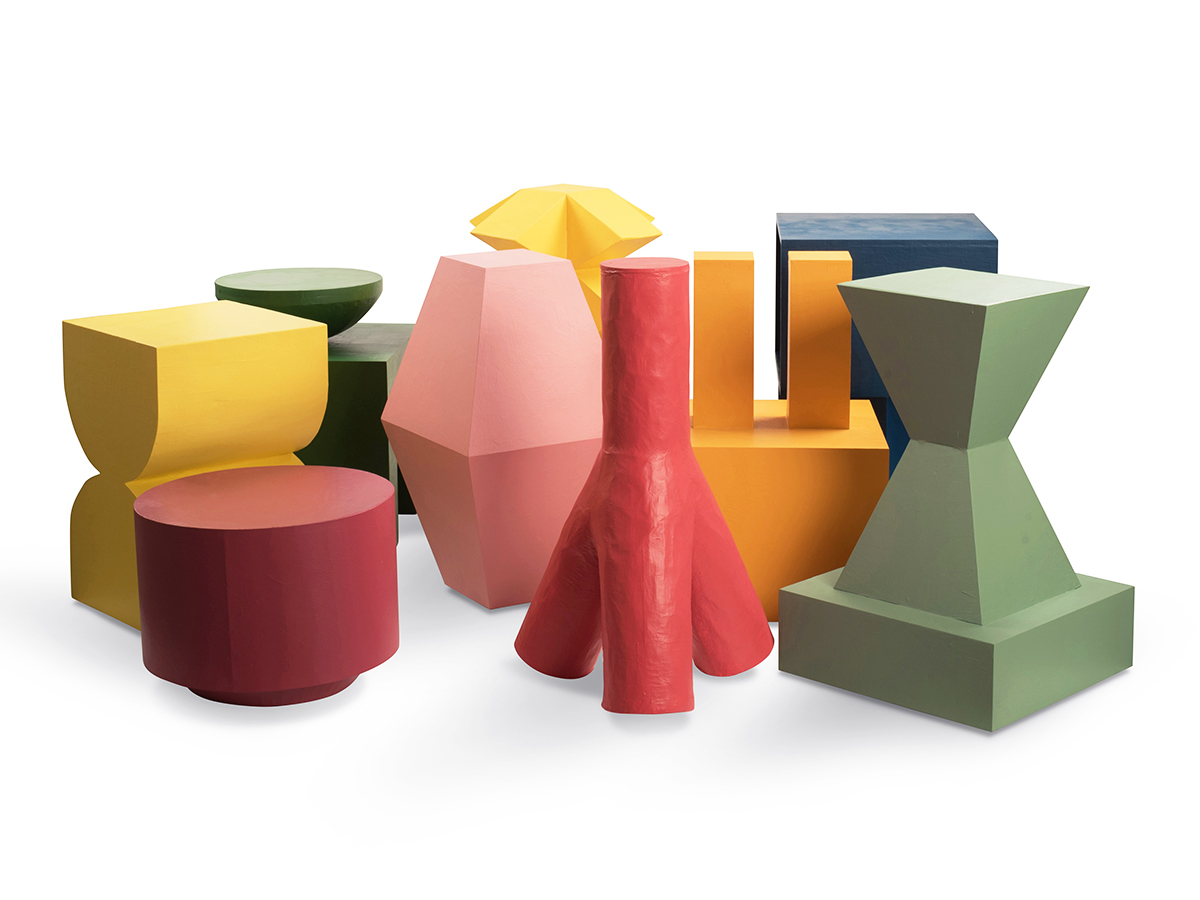 Brancusi-Inspired Shapes in a Crayola-Inspired Palette