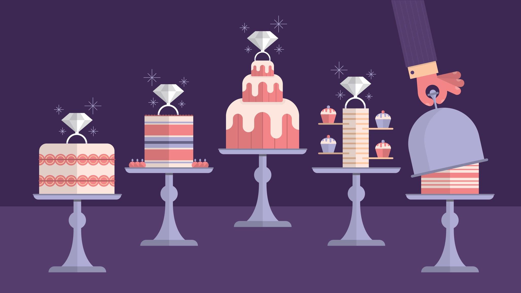 Engagement cake. (image by Andrew Janik via bonappetit)