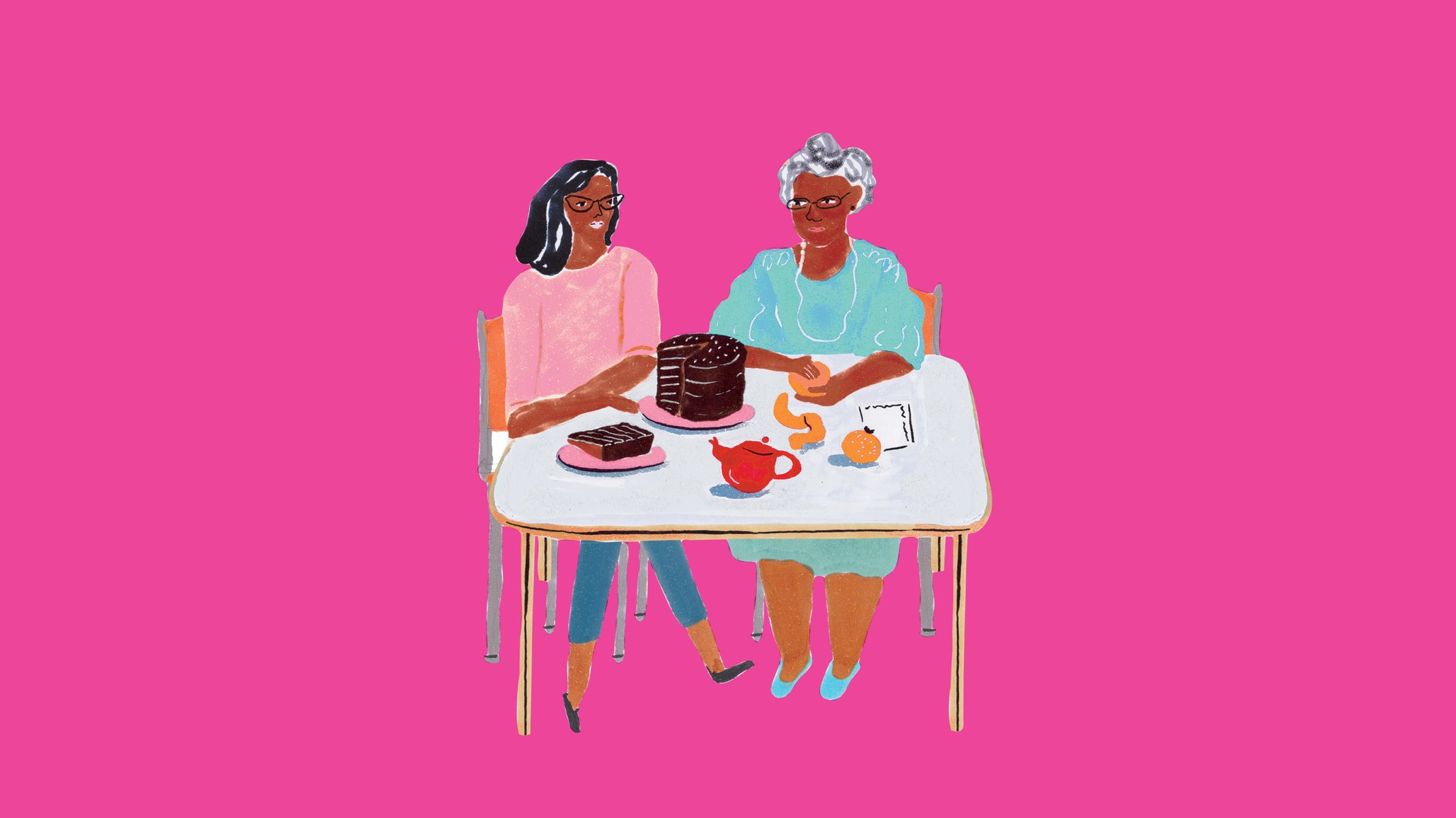 Always into cake. (illustration by Grace Lee via bonappetit)