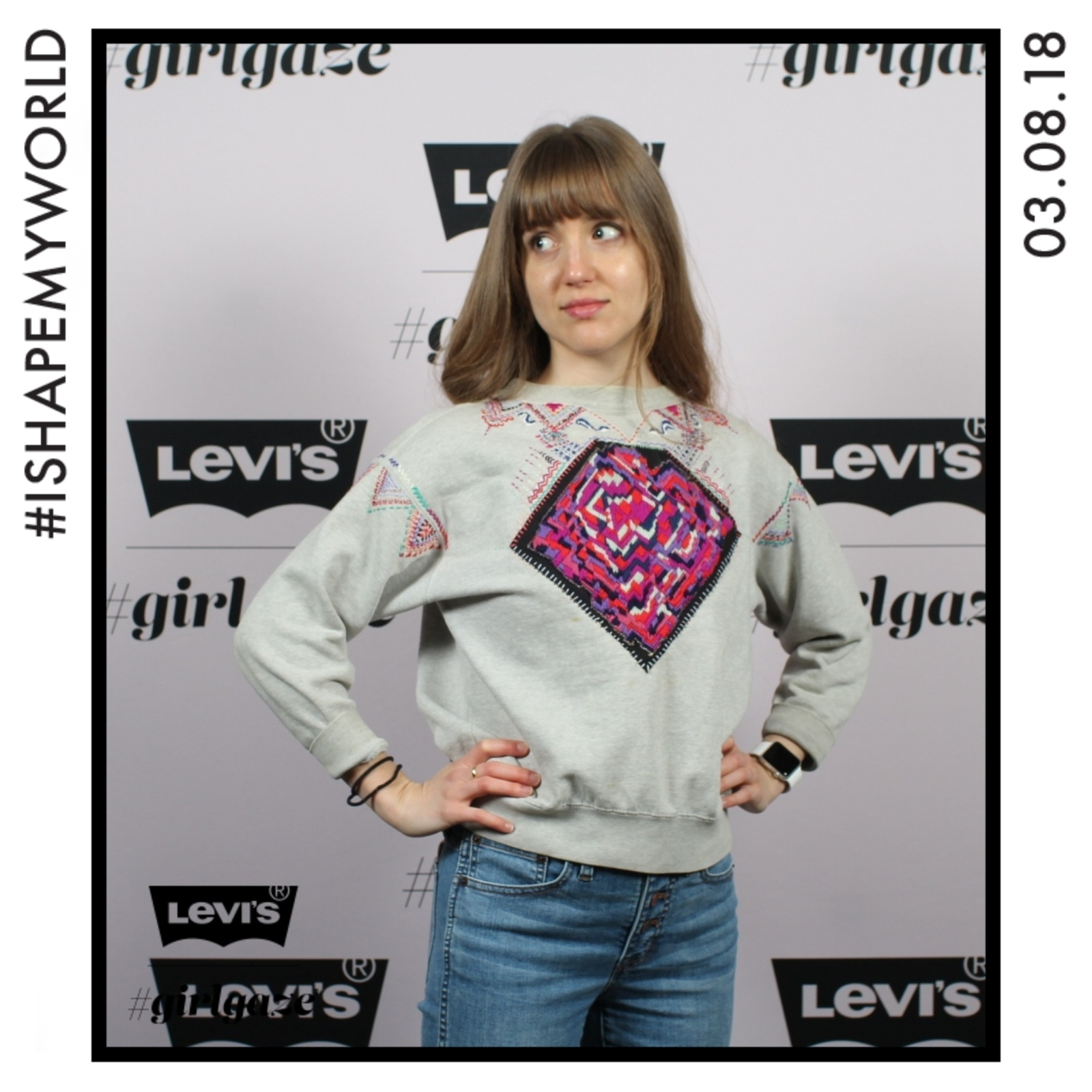 I went to an awesome girlgaze event in my sweatshirt. This picture cracks me up.