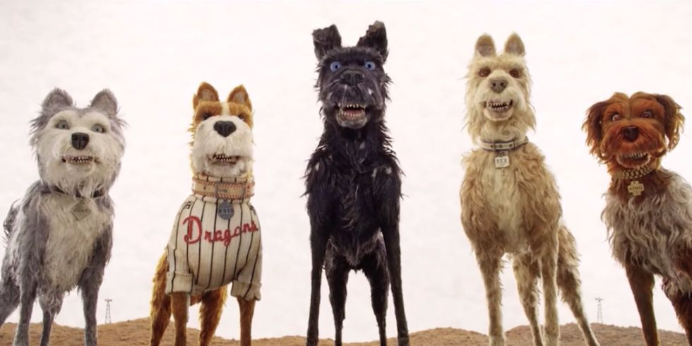 "The phrase ""Isle of Dogs"" appropriately sounds like ""I love dogs."" (image via Fox Searchlight Pictures)"