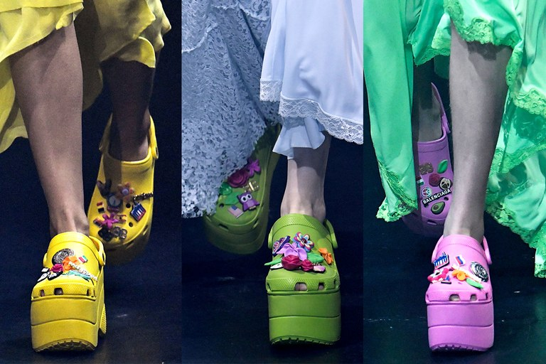 These Crocs are Balenciaga. I think I hate them so much that I love them. (image via vanityfair)