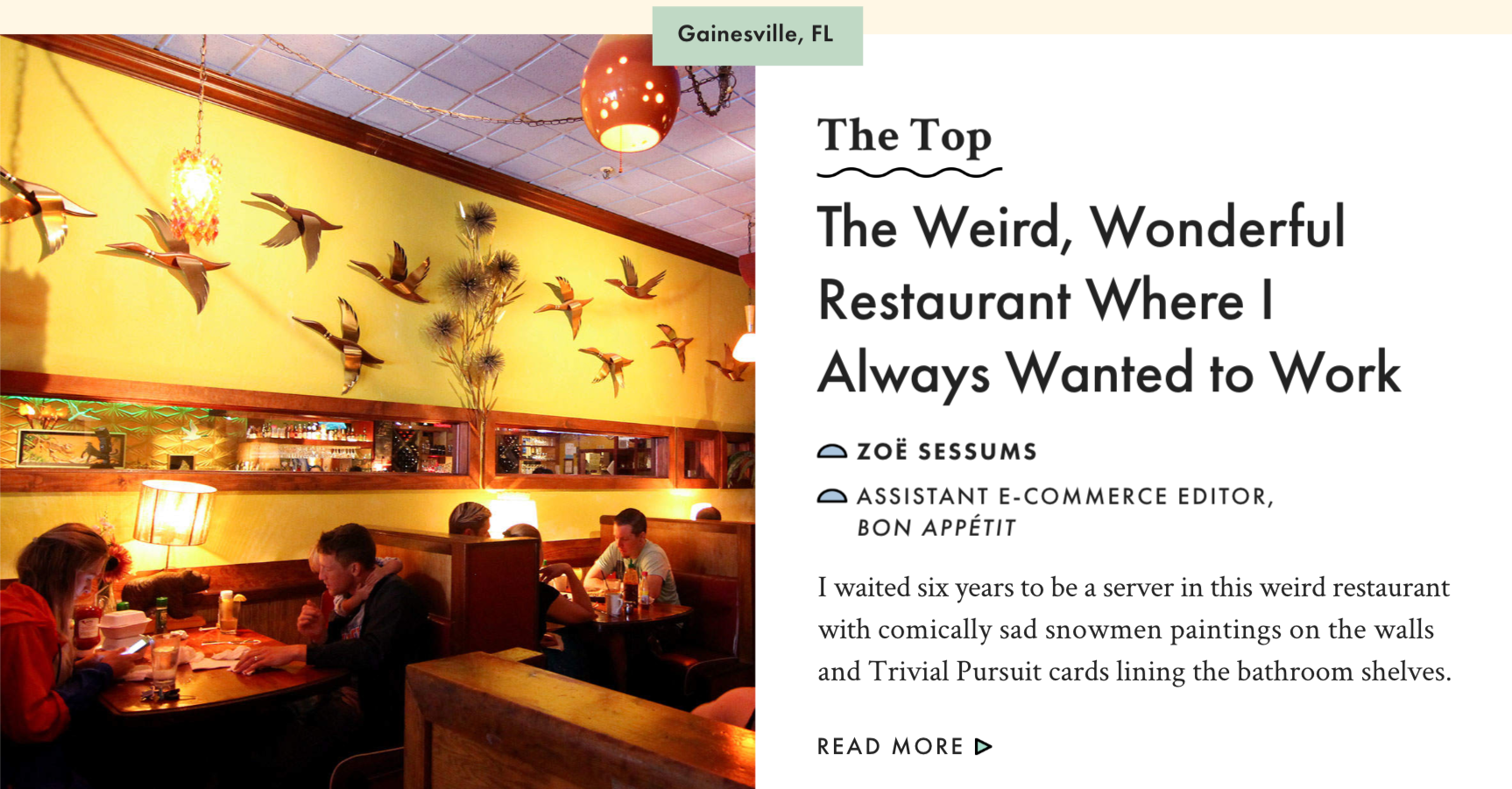 The Weird, Wonderful Restaurant Where I Always Wanted to Work