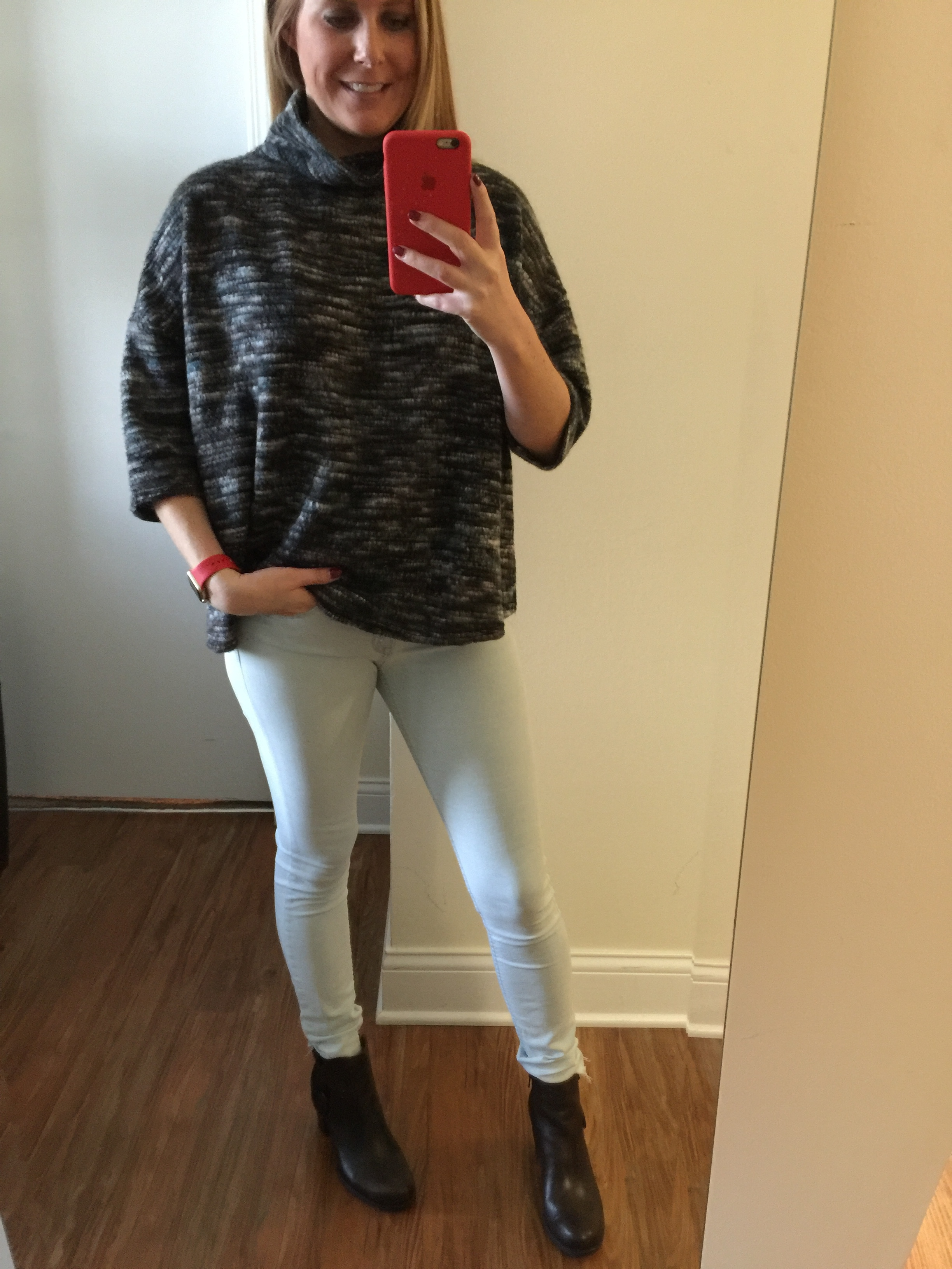 Top: Urban Outfitters, Silence + Noise, Jeans: H&M, Boots:Born, Ondine Ankle Boot