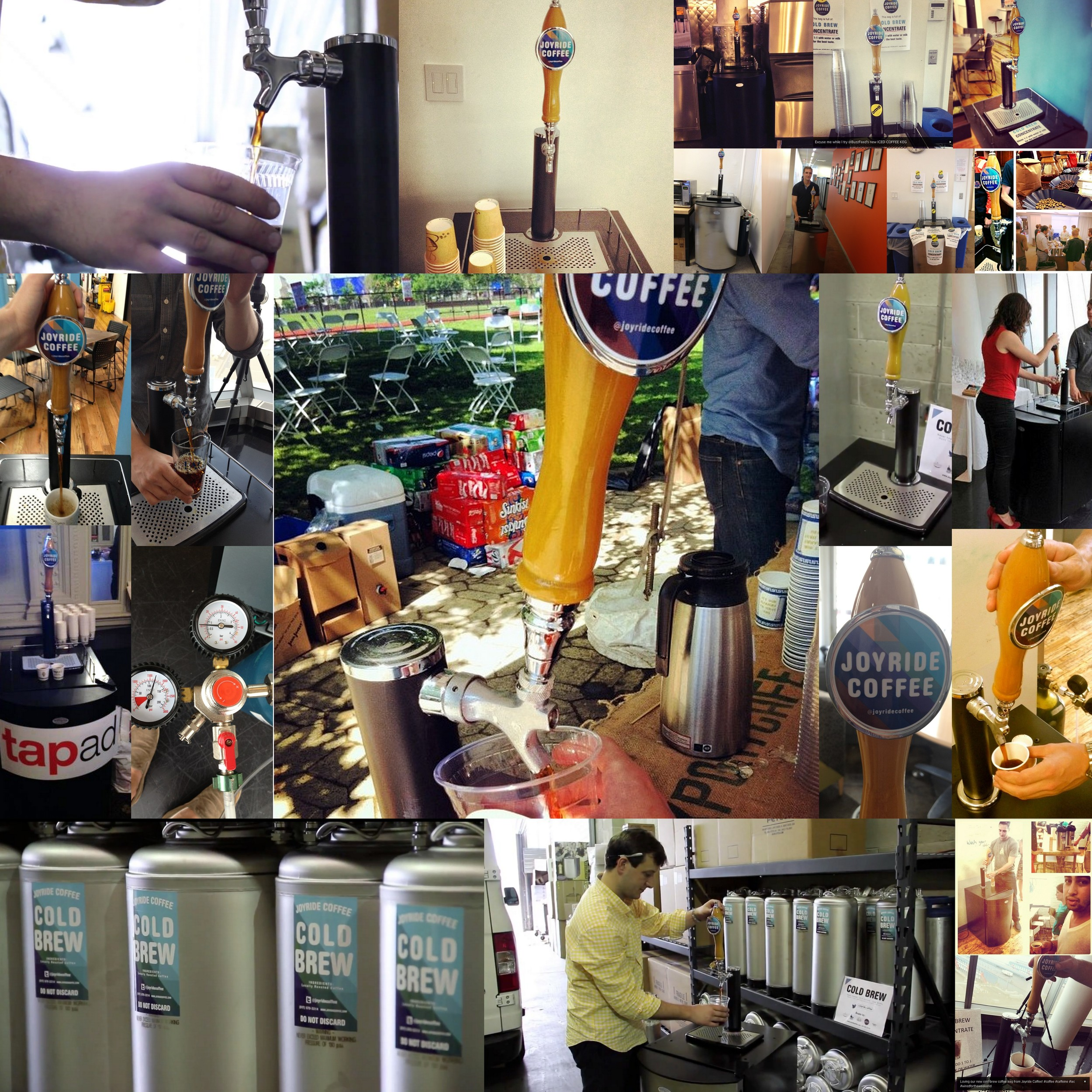 Collage of Joyride Cold Brew Kegerator Pictures