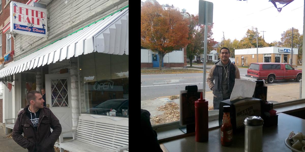 """A rush belt mom 'n pop restaurant called the """"Better Half Diner"""" in Sandusky, OH"""