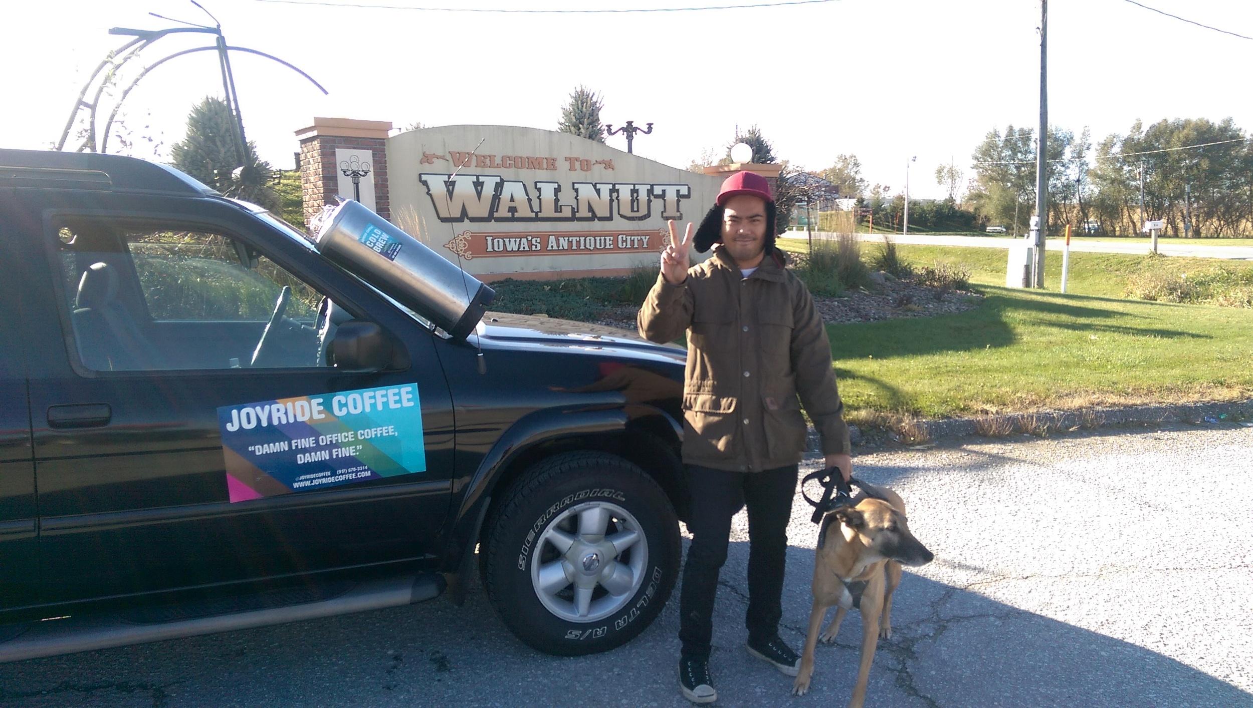 Marc & Eli hangin' in Walnut. (Marc has a new hat each day.)