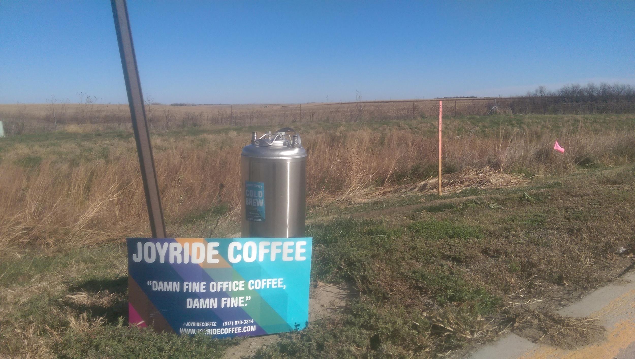 Lonely keg in Seward, Nebraska