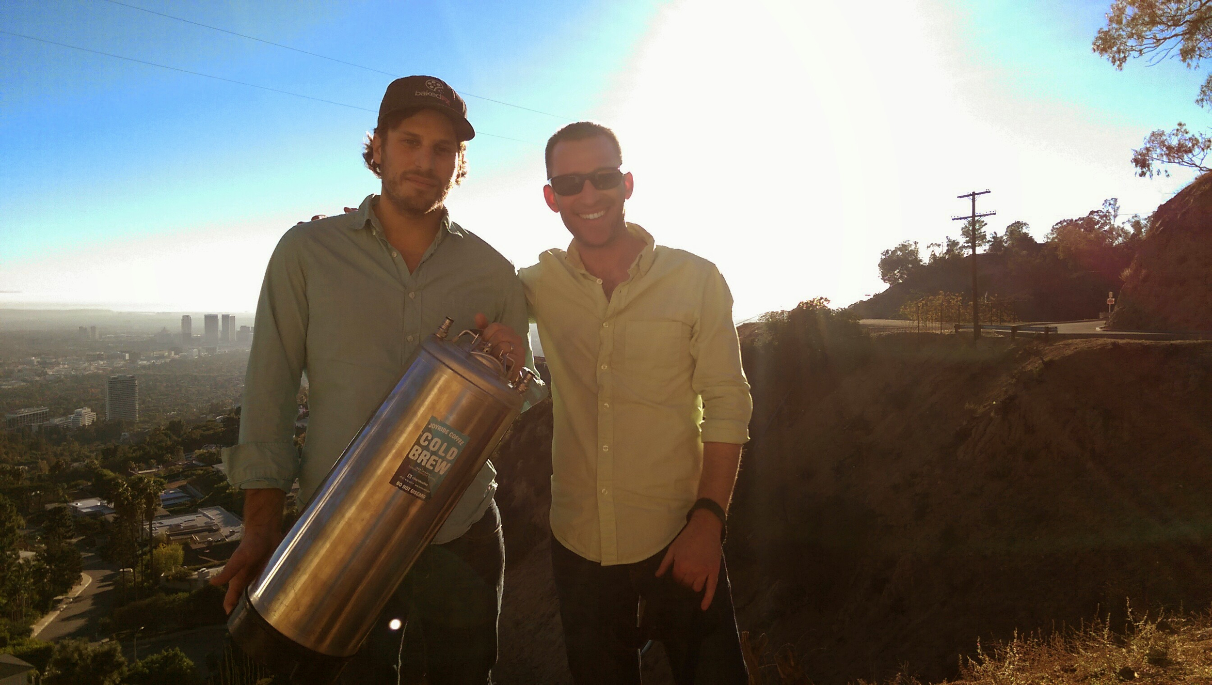 Rob and his VFX friend George in the hills of LA.