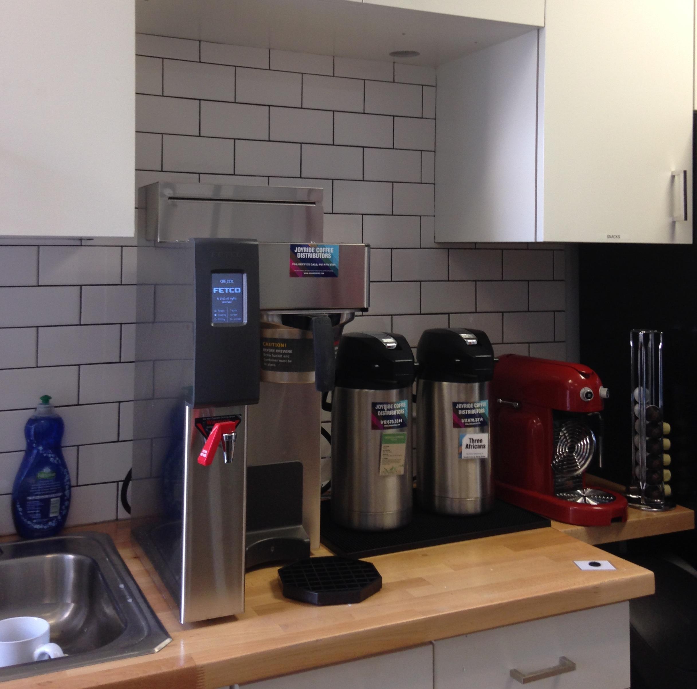 An example Joyride Office Coffee setup