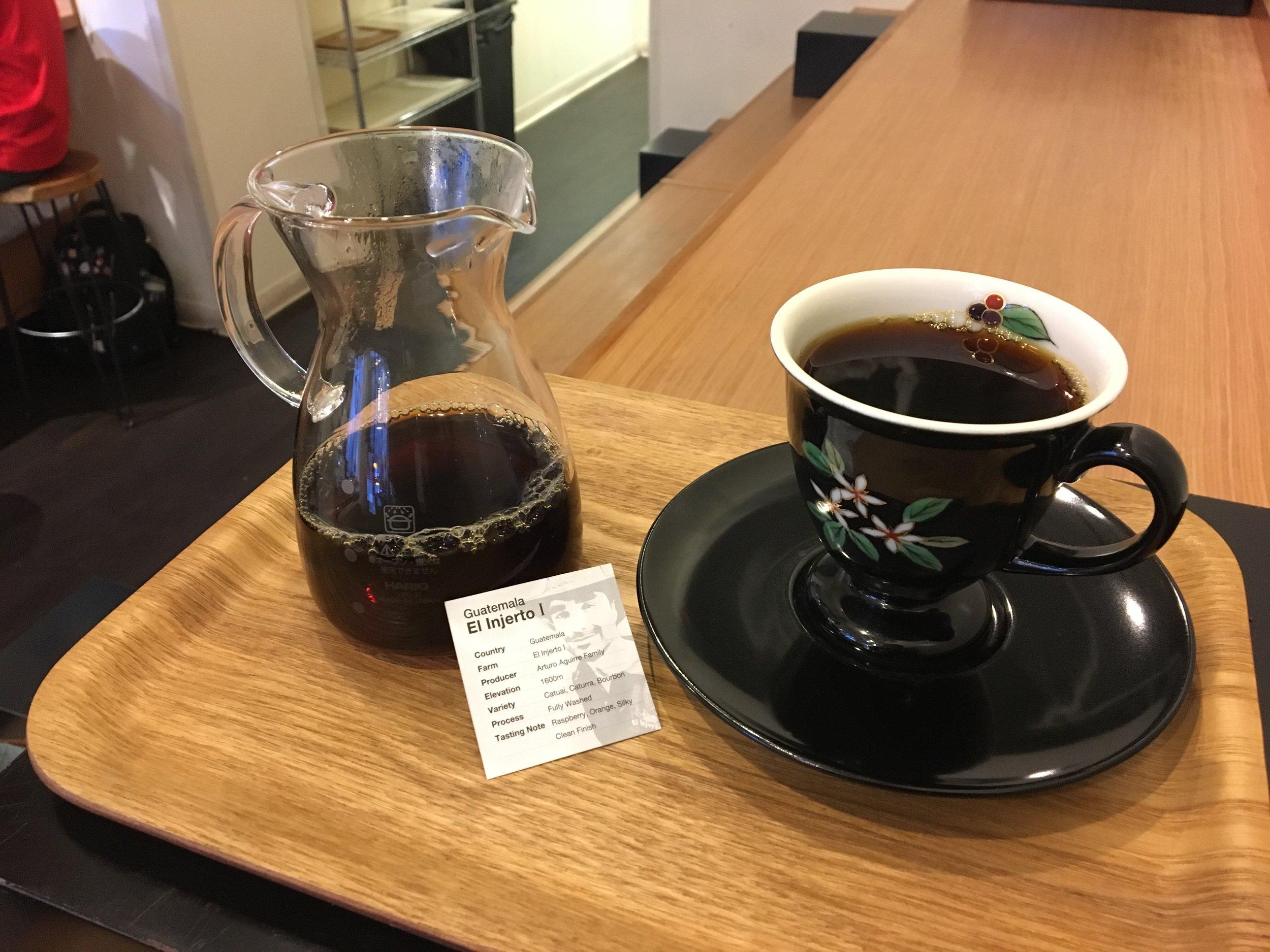 Simple, clean presentation of a single origin coffee