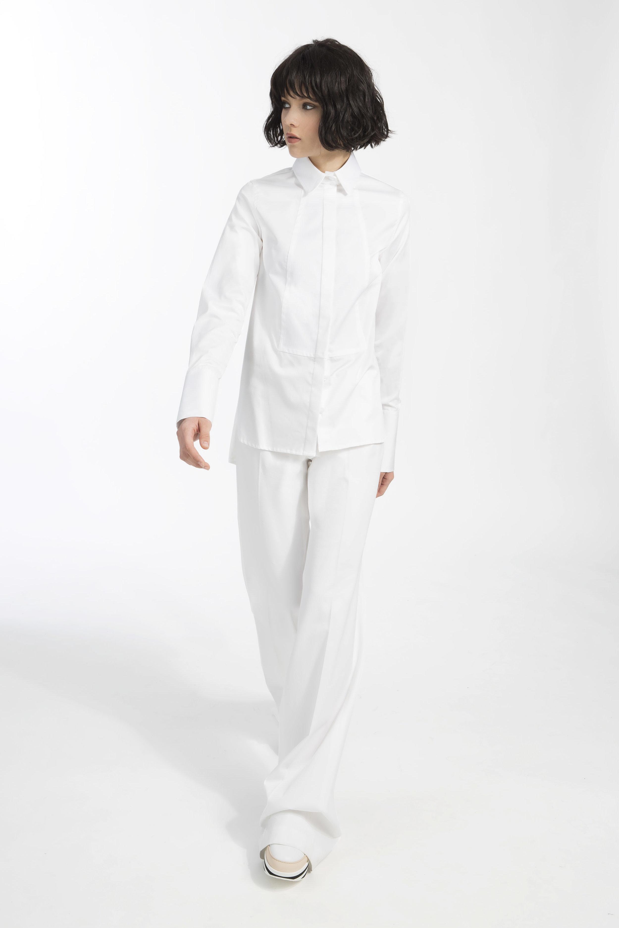 Deena shirt - White popeline cotton shirt