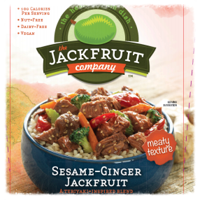 Recipe developed for sesame-ginger jackfruit (new packaging)