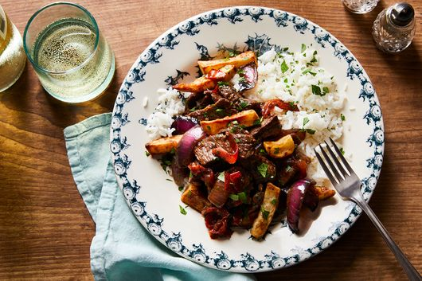Chinese-Peruvian Beef Stir-Fry With French Fries (Lomo Saltado)