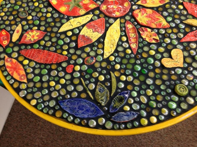 SUNFLOWER MOSAIC TABLE