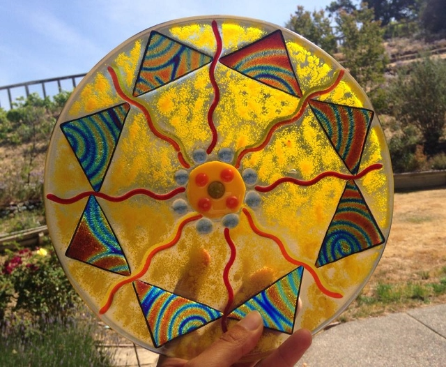 SUNBURST GLASS FUSION BOWL