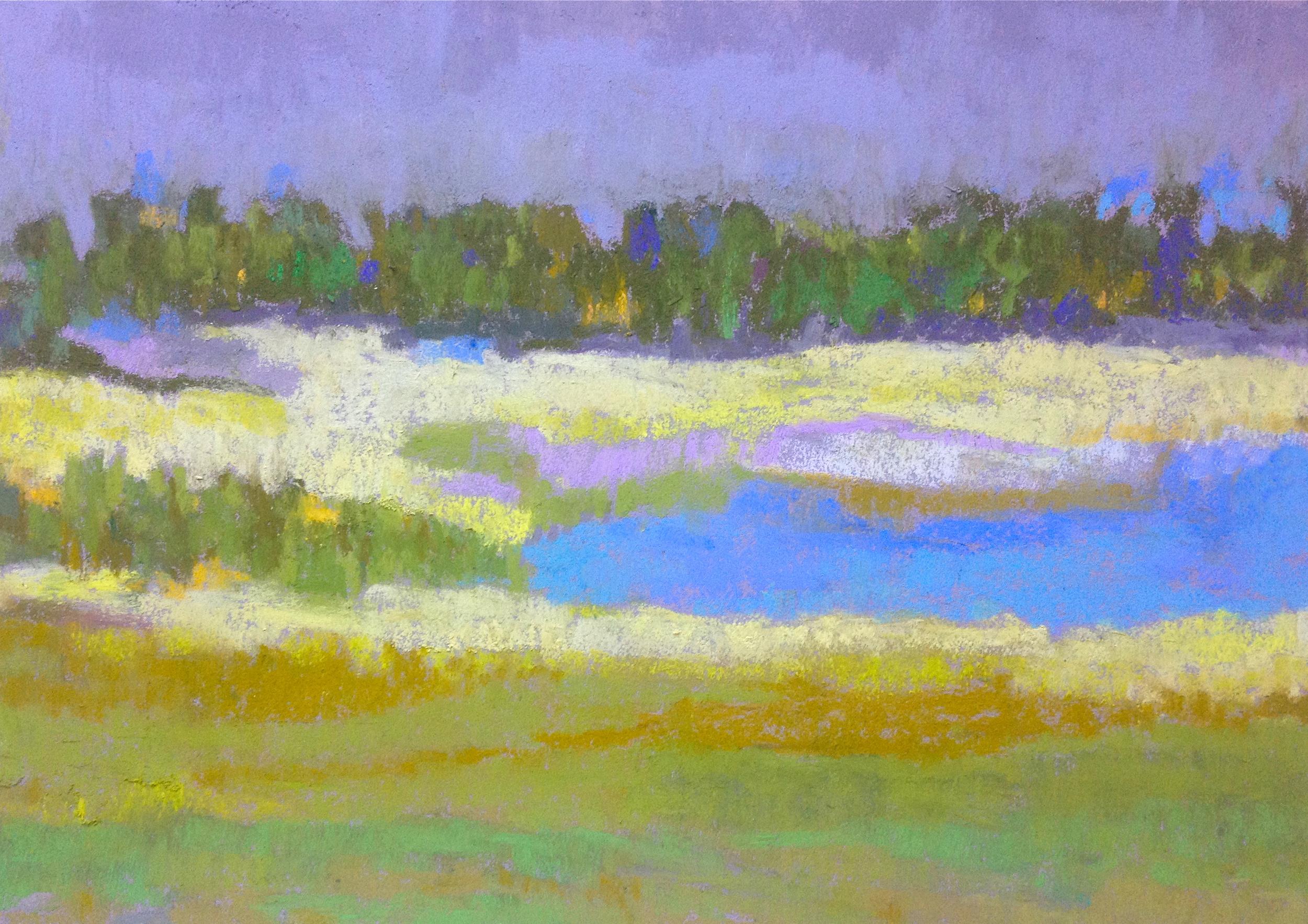 Summer Landscape Pastel on Paper, 2015