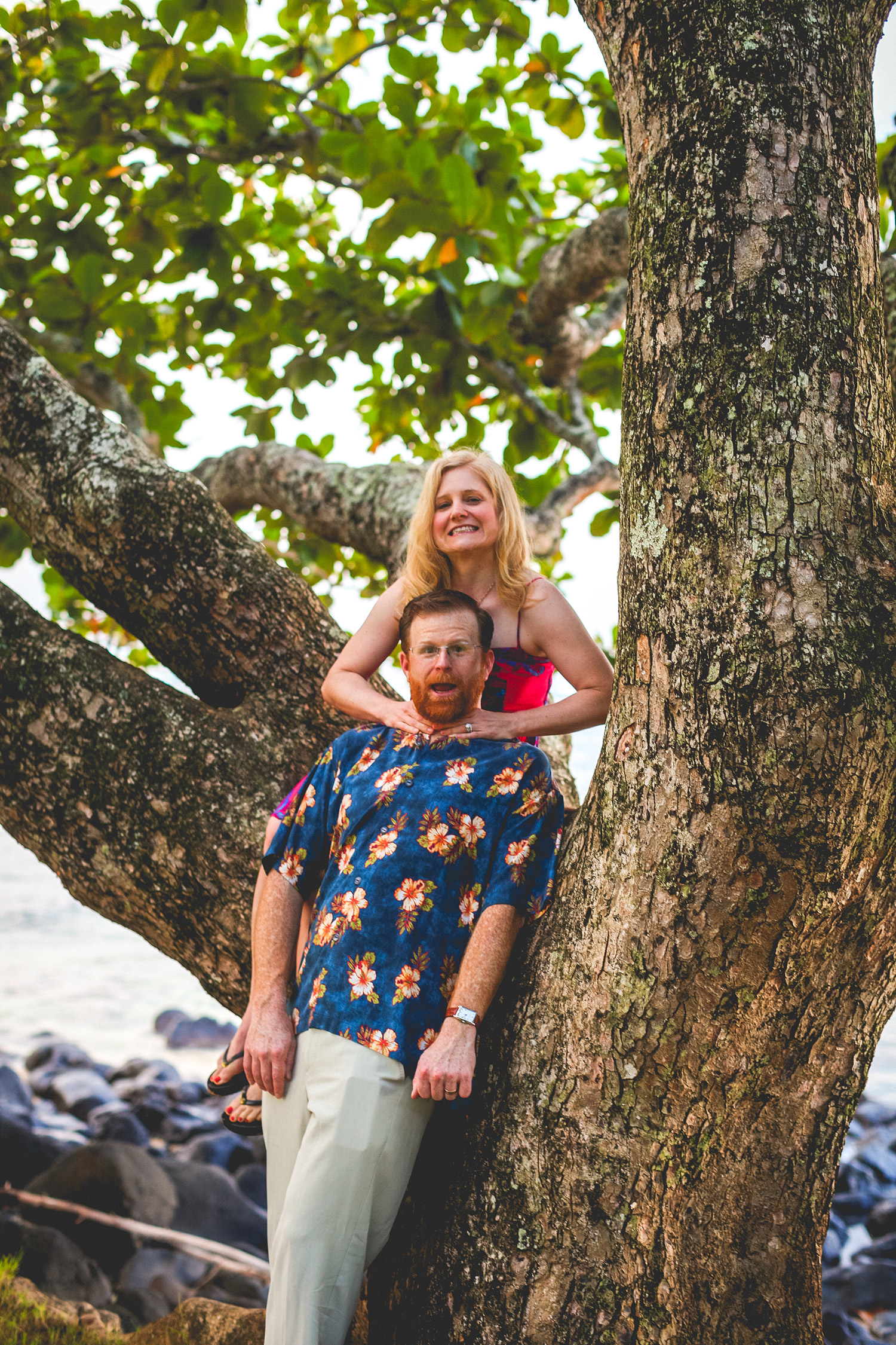 Fun couple photo session Kauai