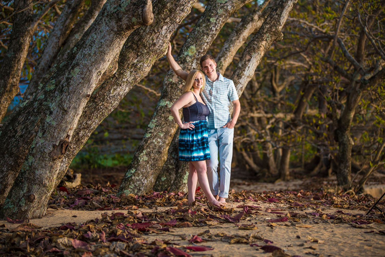 Candid couple portraits Kauai