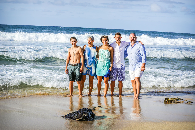 Fun family photo session Kauai