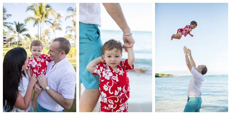 Family Photos taken at Montage Kapalua Bay in Maui, Hawaii by Pacific Dream Photography