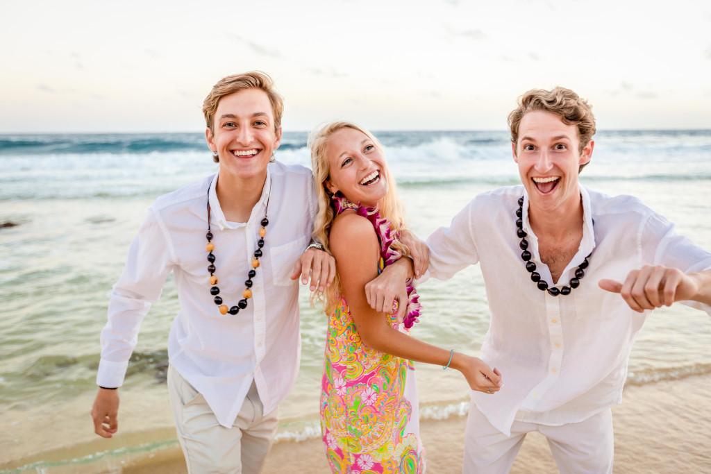 Having fun on Shipwreck Beach in Kauai, Hawaii