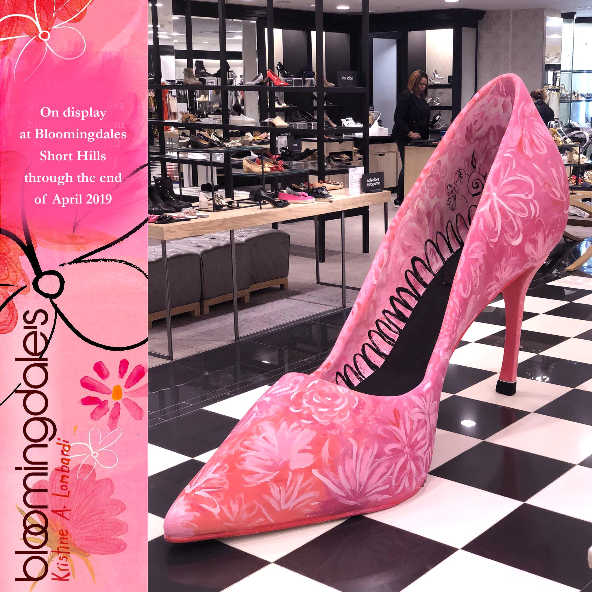 I worked with Bloomingdales on this enormous shoe. This is the announcement for its display.