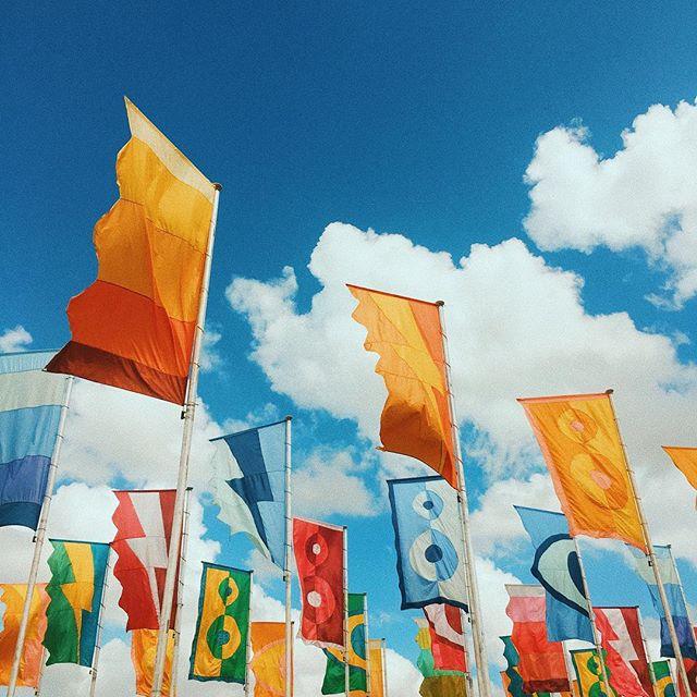 The flags of @aclfestival ⚡️ #austincitylimits #festival #austintexas #wondersouth