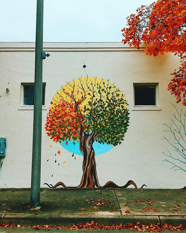 Mother Nature's Son // #geauxdowntownbr #225batonrouge #thatlacommunity #wondersouth #mural #leaves