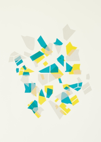 Fragments of the City I  Silk Screen Print. 594x420mm.   £650 Framed