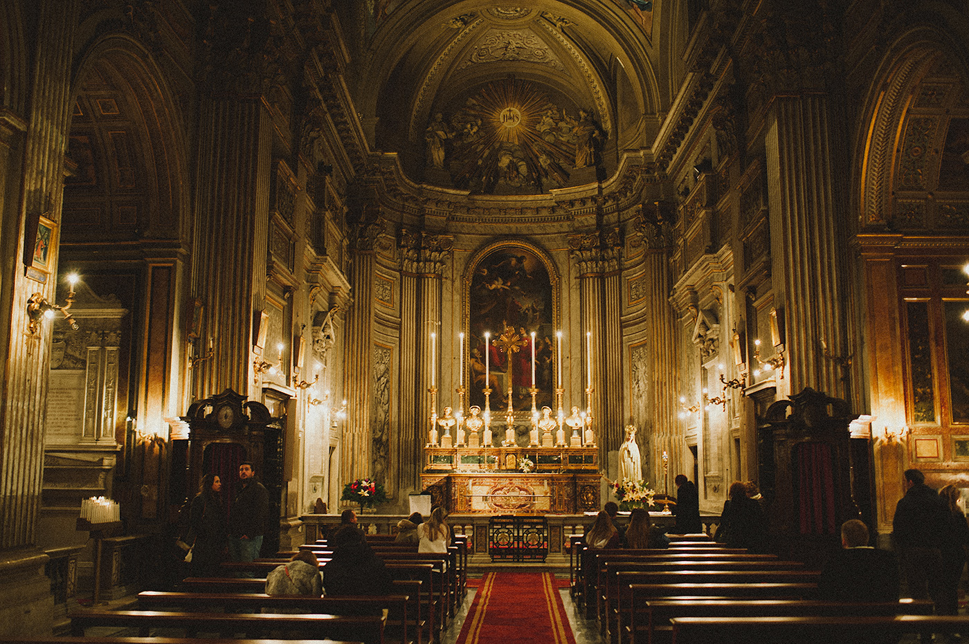 The church of Sant'Agnese in Agone in the Piazza Navona.