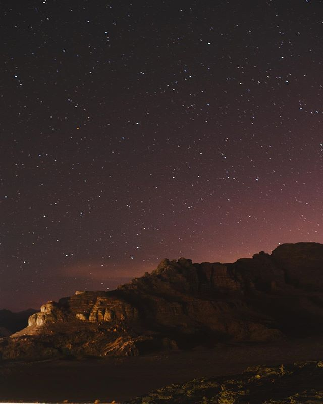 Wow, what a beautiful night in #wadirum @visitjordan