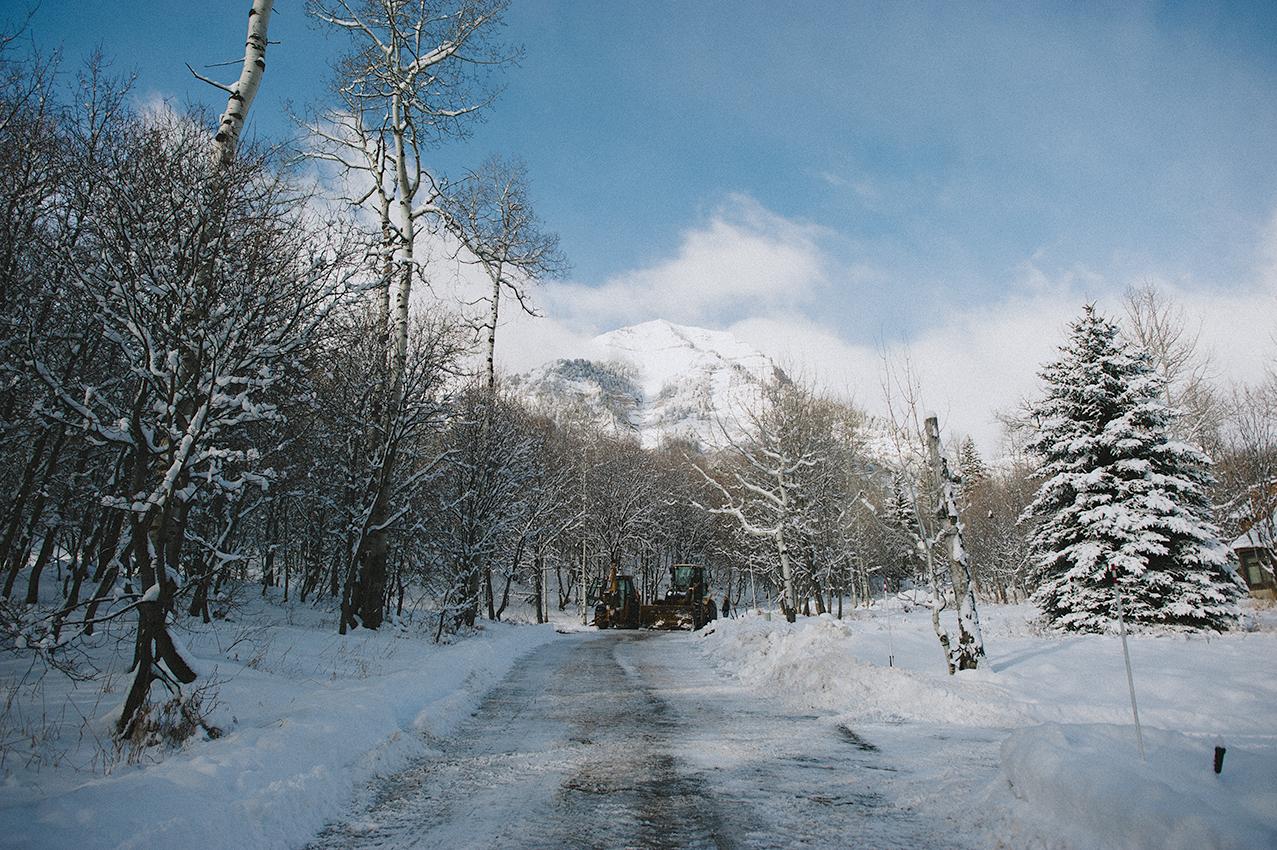 We hiked through the Sundance Resort, just exploring around the winter wonderland.