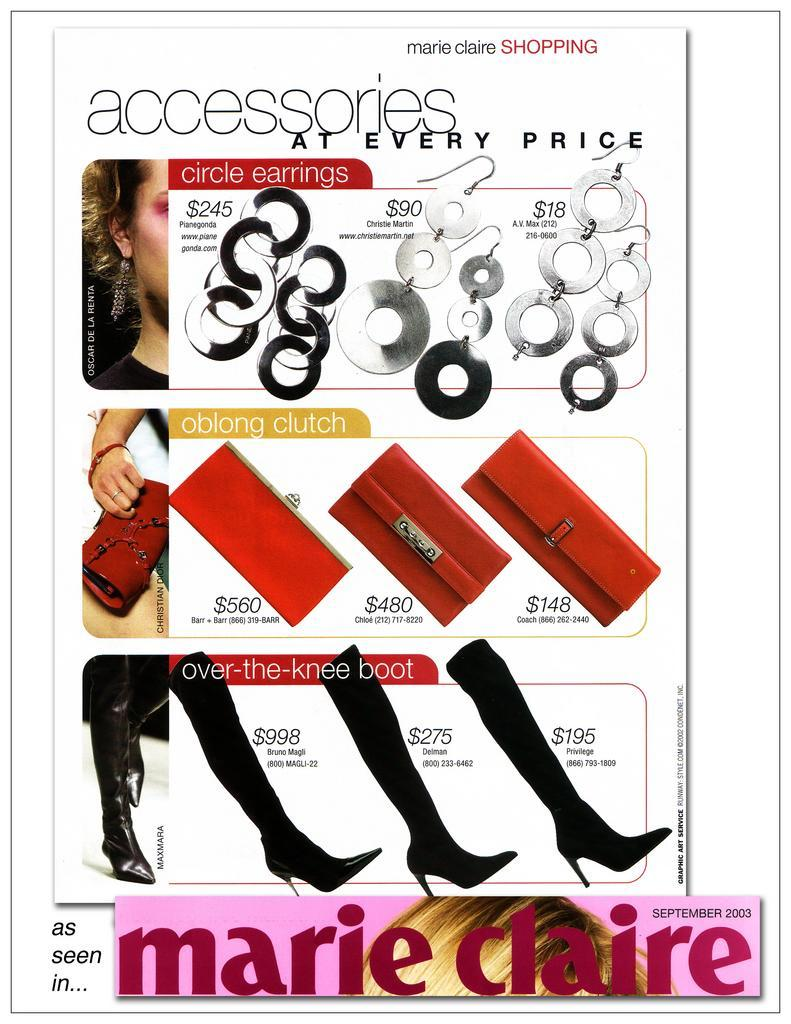 barr + barr luxury handbags and footwear designed by Helen Barr, as seen in Marie Claire