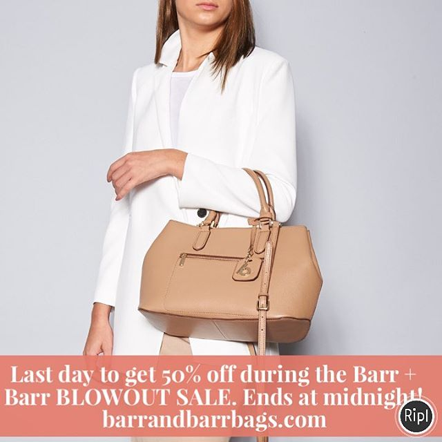 The BIGGEST SALE of the year ends at midnight. Everything is 50% off while we make room for our NEW DESIGNS! Use code TAKE50 at checkout. #barrandbarrsale #blowoutsale #50percentoff #annualsale #handbagsale #leatherbags #biggestsaleoftheyear #shopping #onlineonly