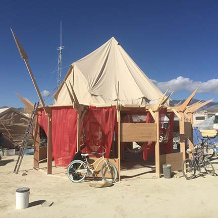 Burning Man Yurt Platform                  2015
