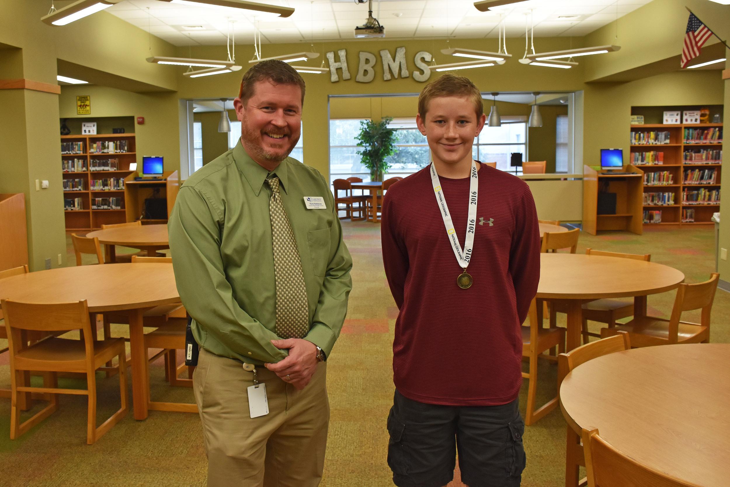 HBMS 8th grader Canion Hempel
