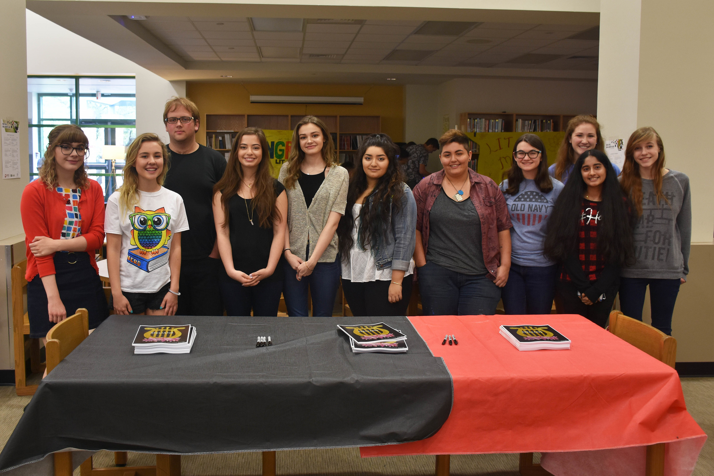 Student writers and artists featured in the 9th annual LTHS Literary Magazine