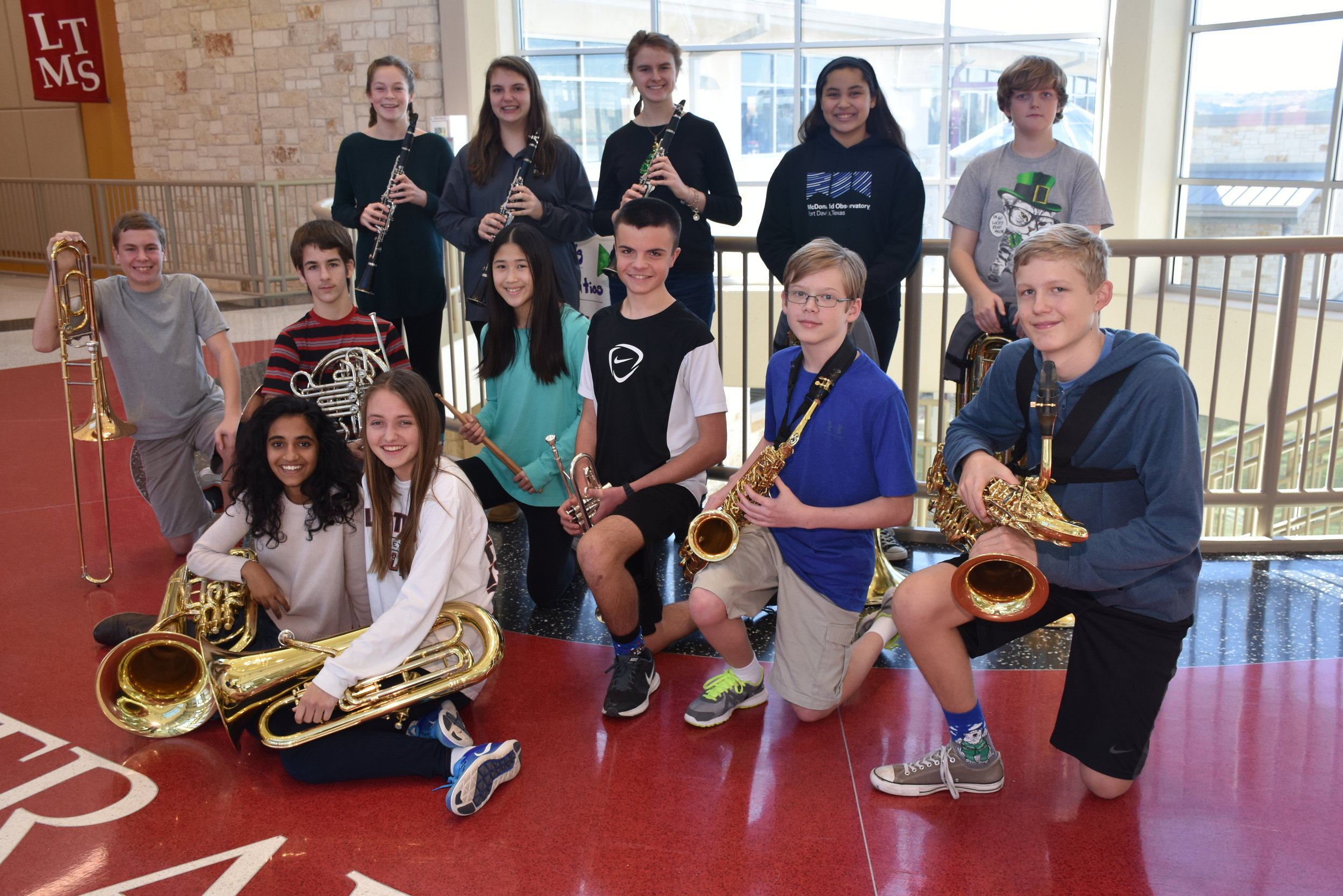 Lake Travis Middle School   TMEA Region 32 All-District band members:  Brynn Messersmith ,  Sydney Morto  n ,  Tania Waldo ,  Jaszmine DeFranco ,  Marshall Westbery ,  Carter Rochford ,  Matthew Andersen ,  Joyce Luo ,  Brennan Chlebos ,  Jack Woodruff ,  Jack Court  s ,  Ananya Pandey , and  Carrie Smith