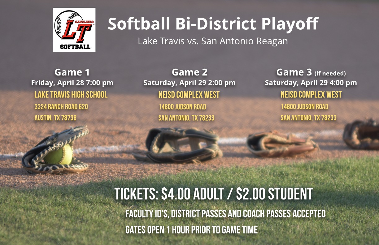 Softball Bi-District Playoff flyer