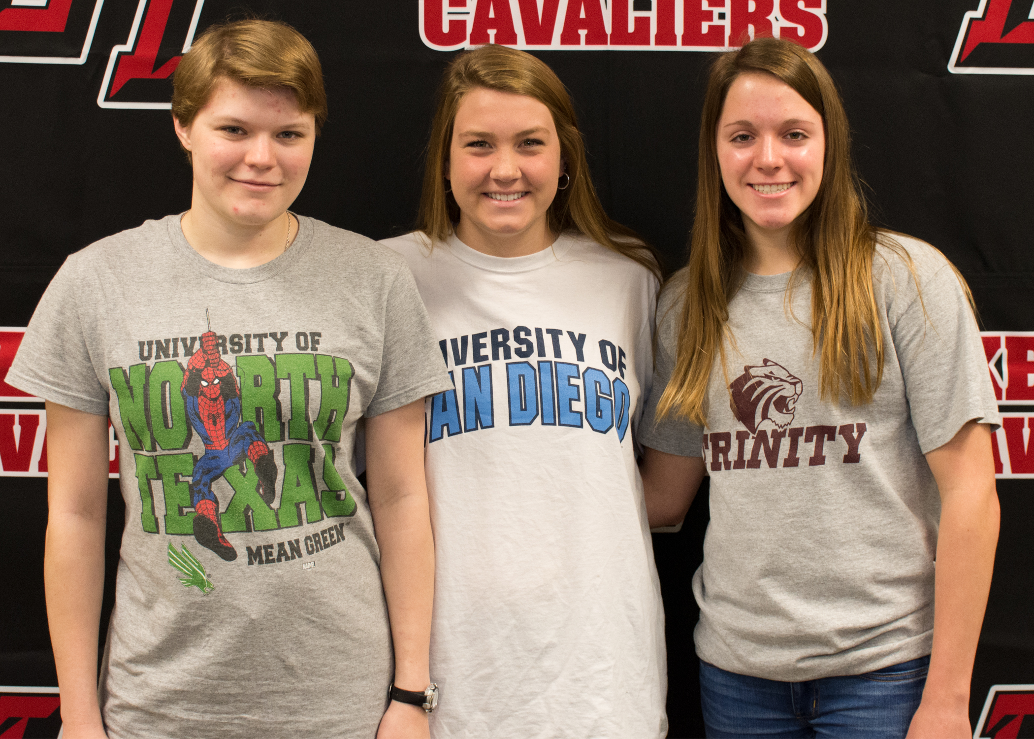 LTHS Swim/Dive (left to right):  Altaira Wallquist  - University of North Texas  Lauren Quincy  - University of San Diego  Logann Khollman  - Trinity University