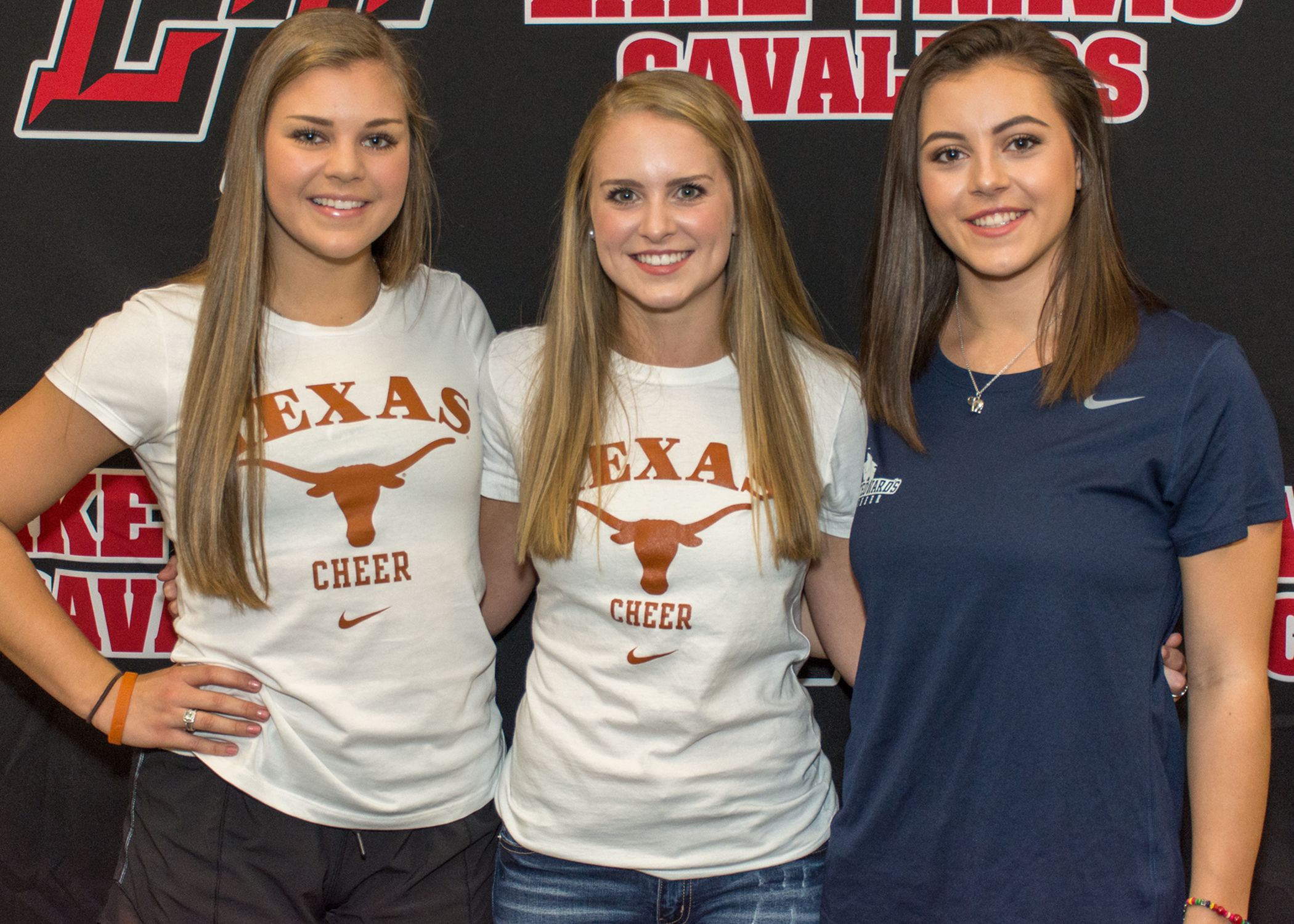 LTHS cheer student-athletes:  Faith Putman  - University of Texas at Austin  Tori Denney  - University of Texas at Austin  Avery Ceshker  - St. Edwards University