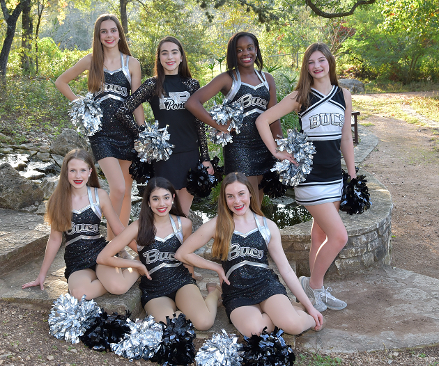 Back Row:  Sierra Stewart ,  Michaela Graves ,  Ariel Davis  and  Kailey Eaves  Front Row:  Hayden Middlebrook ,  Maya Modur  and  Madison Macliver  Photo by Alicebeth Trappe