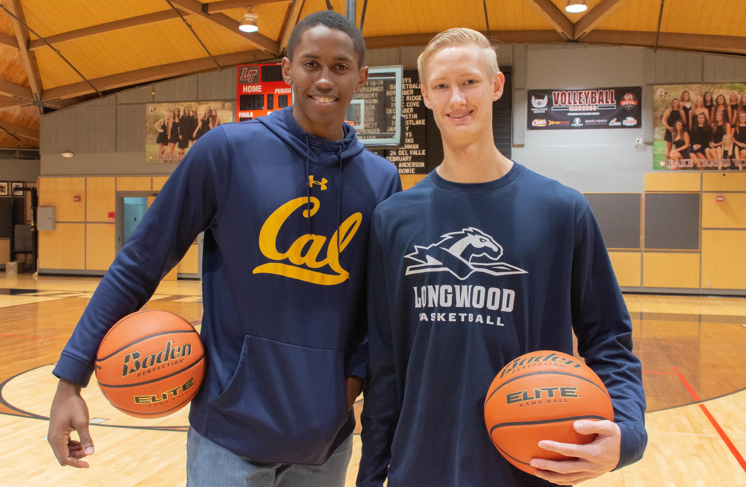 LTHS basketball student-athletes (L to R):  Daniel Thorpe  - University of California-Berkley   Bennett Mohn  - Longwood University.