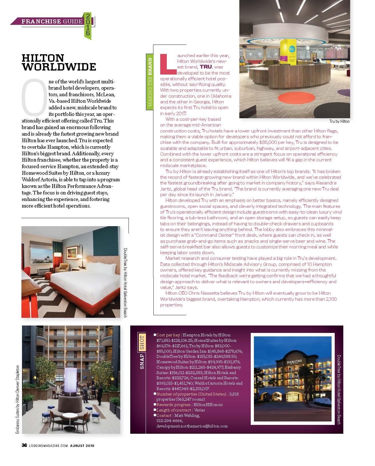 LODGING  Magazine August 2016